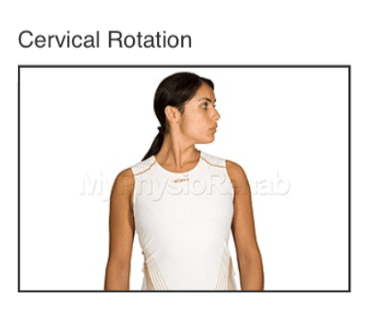 cervical rotation for whiplash treatment