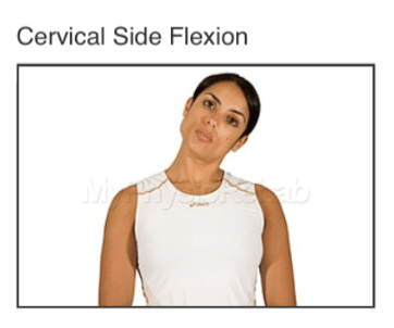 cervical side flexion for whiplash treatment