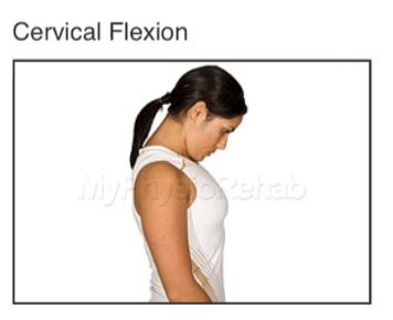 cervical flexion for whiplash treatment